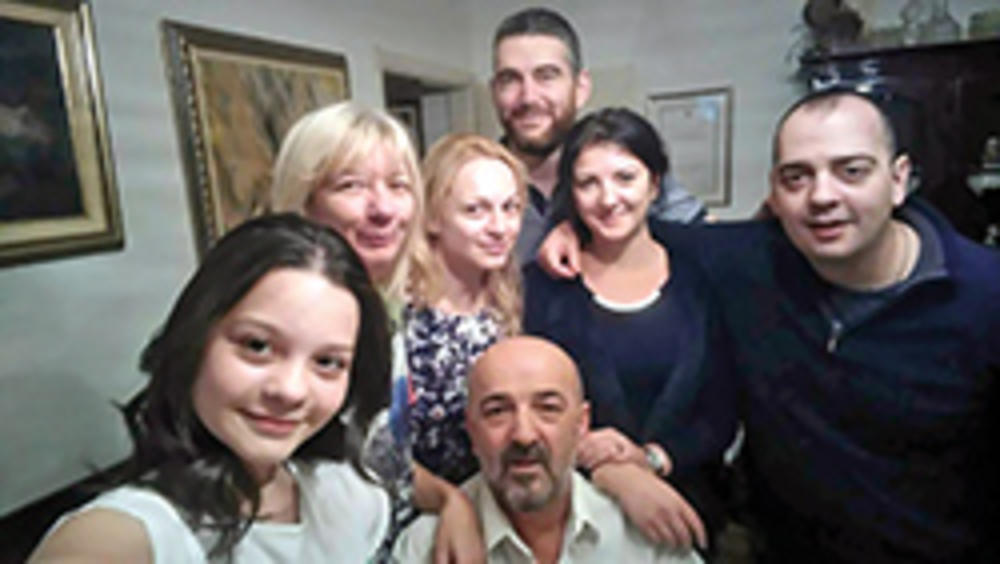 Ratko Bulatović sa porodicom