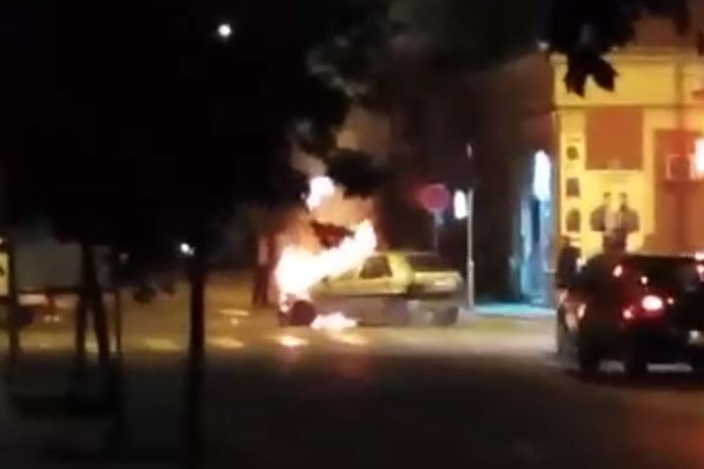 AUTOMOBIL BUKTINJA U PANČEVU: Pogledajte kako se zapalio posle