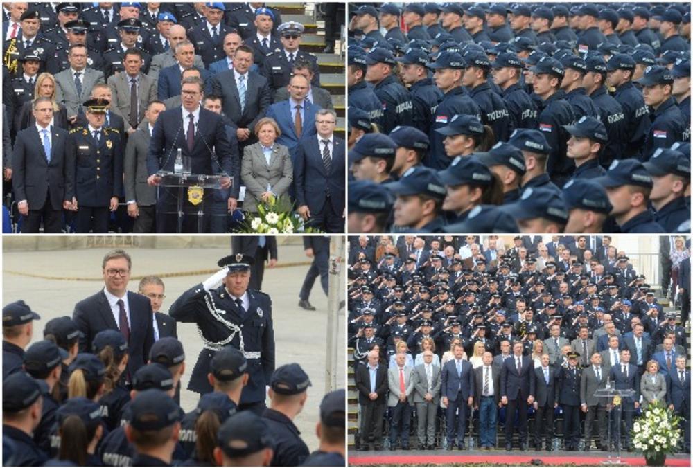 PROMOCIJA POLICAJACA I VATROGASACA U NOVOM SADU: Vučić izvršio počasnu 36 24 79