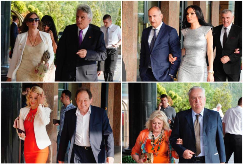SPORTSKA ELITA OKUPILA SE NA SVADBI DŽAJINE ĆERKE! Savić, Mrkela, Filipović... jedan za drugim sa ženama prošetali crvenim tepihom! (FOTO)
