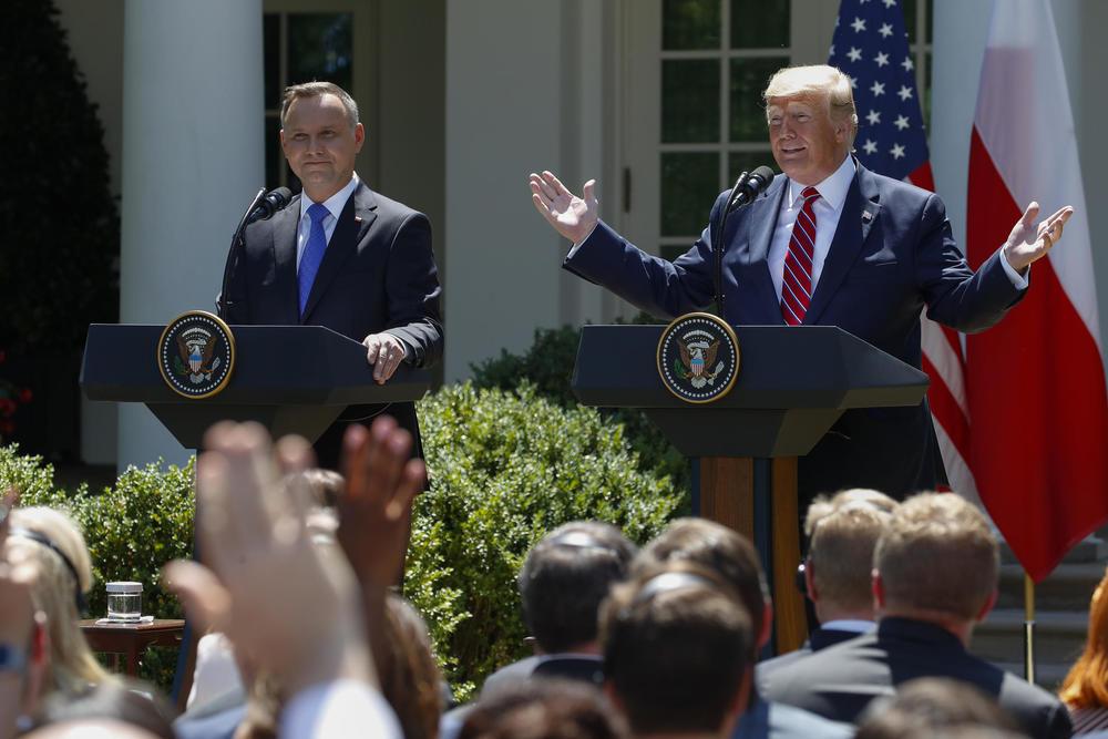 Andžej Duda i Donald Tramp