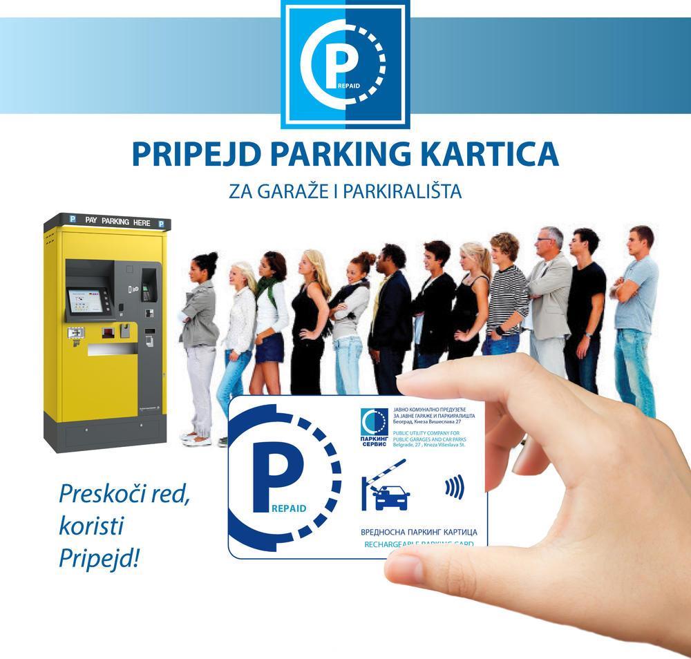 00:28h NOVA USLUGA PLAĆANJA PARKIRANJA: Sa pripejd parking karticom bez čekanja u garažama i na parkiralištima