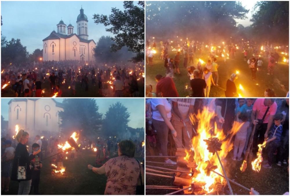 07:26h LILANJE U LOZNICI: Gorele lile u porti stare crkve uoči Petrovdana FOTO