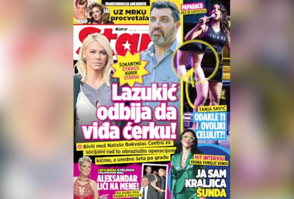 19:00h KURIR SUTRA POKLANJA NOVI STARS: Bivši muž Nataše Bekvalac odbija da vidi ćerku