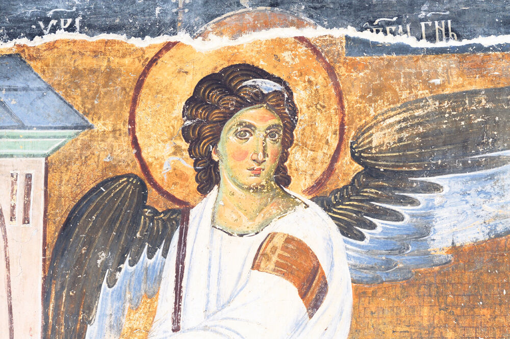 Manastir Mileševa, Beli Anđeo, freska