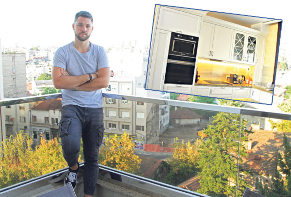 MOMAČKI RAJ! ZANEMEĆETE KADA VIDITE KAKO ŽIVI SIN LEPE BRENE: Stefan Živojinović je iz porodičnog doma PONEO SAMO ŠERPE, pa se SAM uselio u stan od 100 KVADRATA! BAHATO! (FOTO)