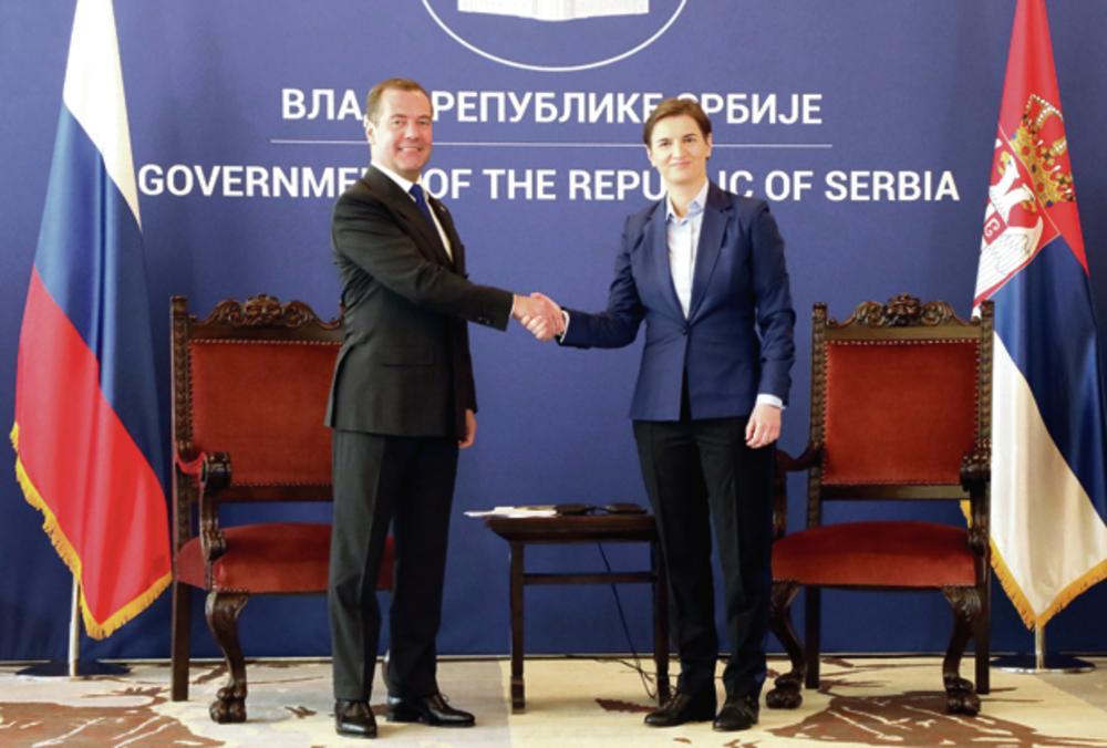 14.45 Palata Srbija: Razgovor u četiri oka Ane Brnabić i Medvedeva