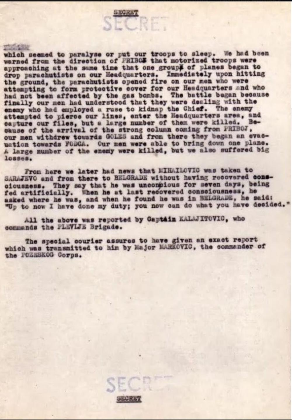 Тајни списи разоткрили како је четнички генерал пао у комунистичку замку и које су биле његове последње речи