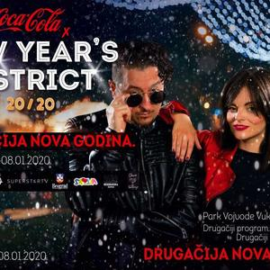 NAJBOLJI DOČEK NOVE GODINE U BEOGRADU! Coca Cola x New Year's District