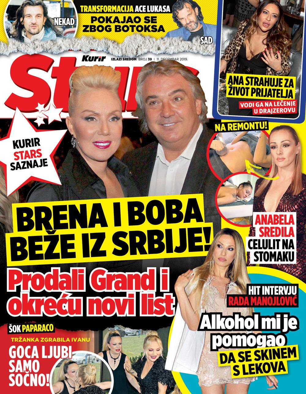 EKSKLUZIVNO! STARS SAZNAJE: Brena i Boba beže iz Srbije! SUTRA POKLON UZ KURIR