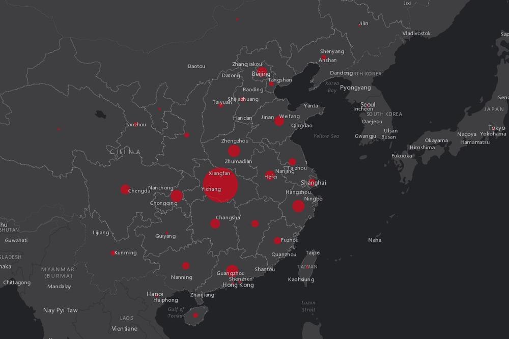 Pratite Uzivo Sirenje Koronavirusa Interaktivna Mapa Vam Pokazuje