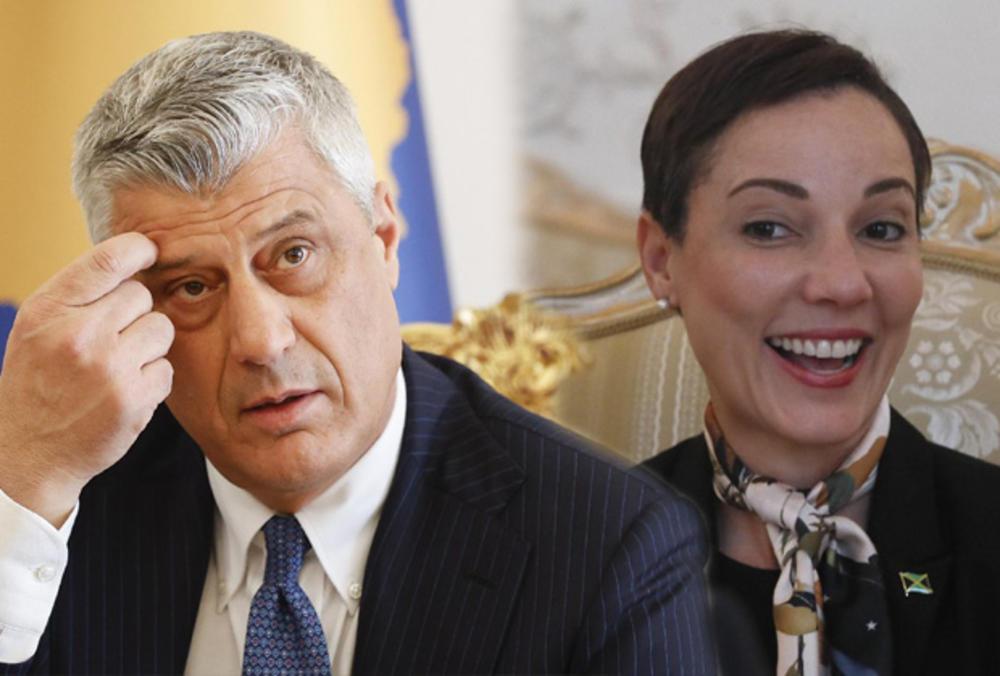 HLADAN TUŠ ZA TAČIJA SA VRELE JAMAJKE: Nismo priznali Kosovo! Ministarka raskrinkala Hašimovu laž i podvalu Prištine