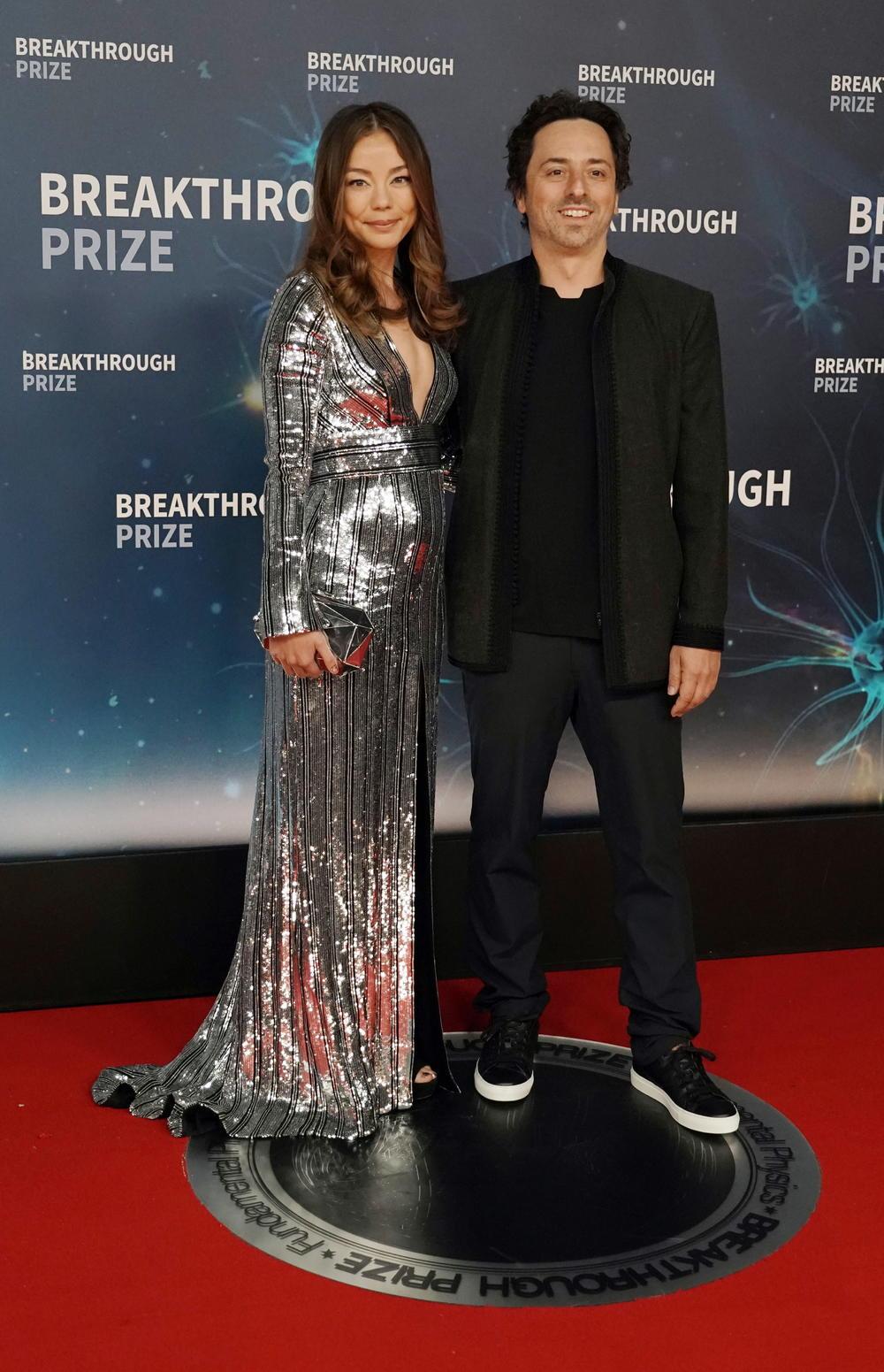 Sergej Brin sa suprugom Nikol Šanahan