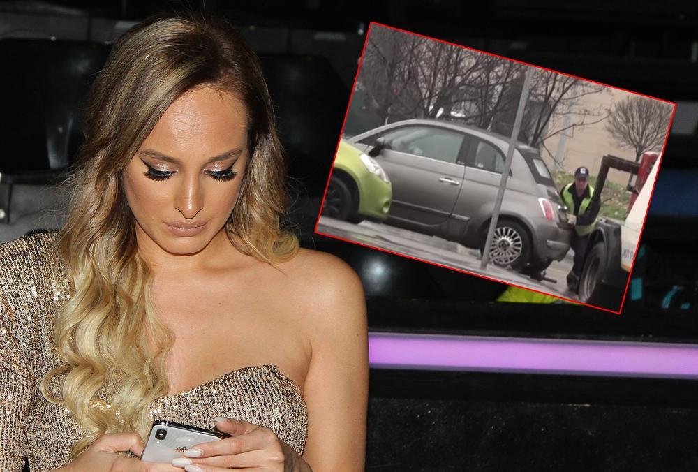LUNA ĐOGANI KRŠI SAOBRAĆAJNE PROPISE: Pevačica vozi u pogrešnom pravcu, pa je sačekalo OVO! (FOTO)