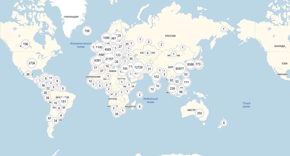 corona interaktivna karta