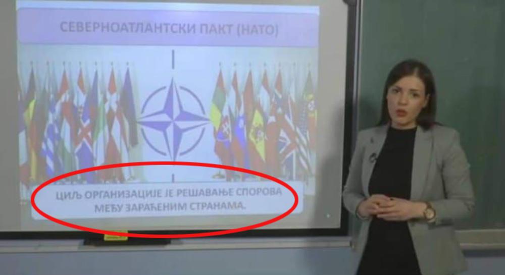 SKANDAL! ĐACI U SRBIJI UČE DA JE NATO MIROLJUBIVA ALIJANSA! Šarčević:  Strašan propust, smeniću sve odgovorne!