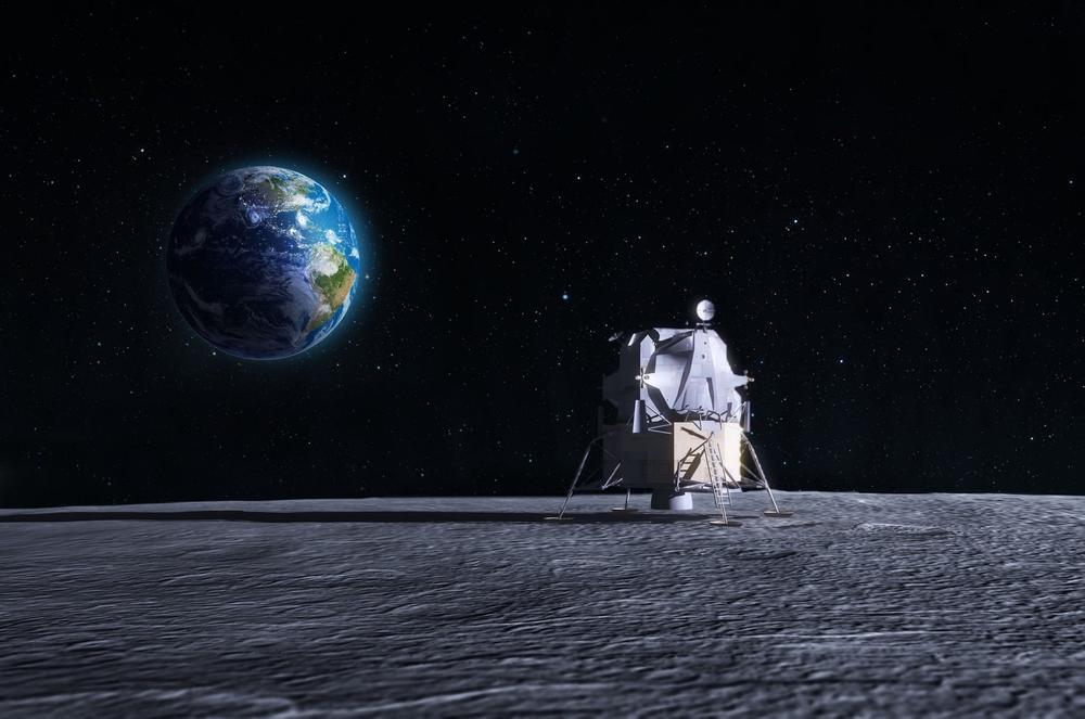 svemir, svemirska letelica, Mesec, lunarni lender