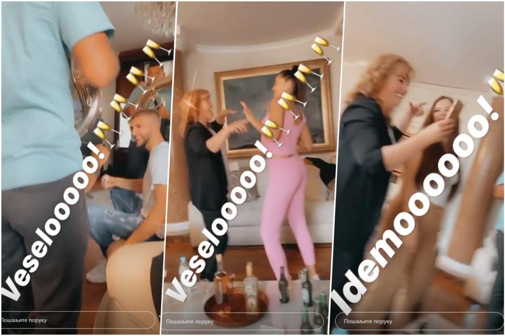 CECA POKAZALA KAKO SE VESELI SA PRIJOM: Trubači ne prestaju da sviraju u vili na Dedinju, tata Veljko NAJVESELIJI! VIDEO