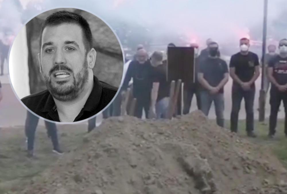 SAHRANJEN BOR LALEVIĆ! A oni se okupili da zapevaju njemu u čast: Potresna scena mnoge je RASPLAKALA! (VIDEO)