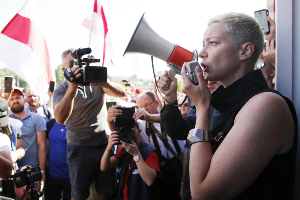 BELORUSKA DRŽAVNA TELEVIZIJA TVRDI: Liderka protesta Kolesnikova privedena  pri pokušaju da pređe granicu sa Ukrajinom!