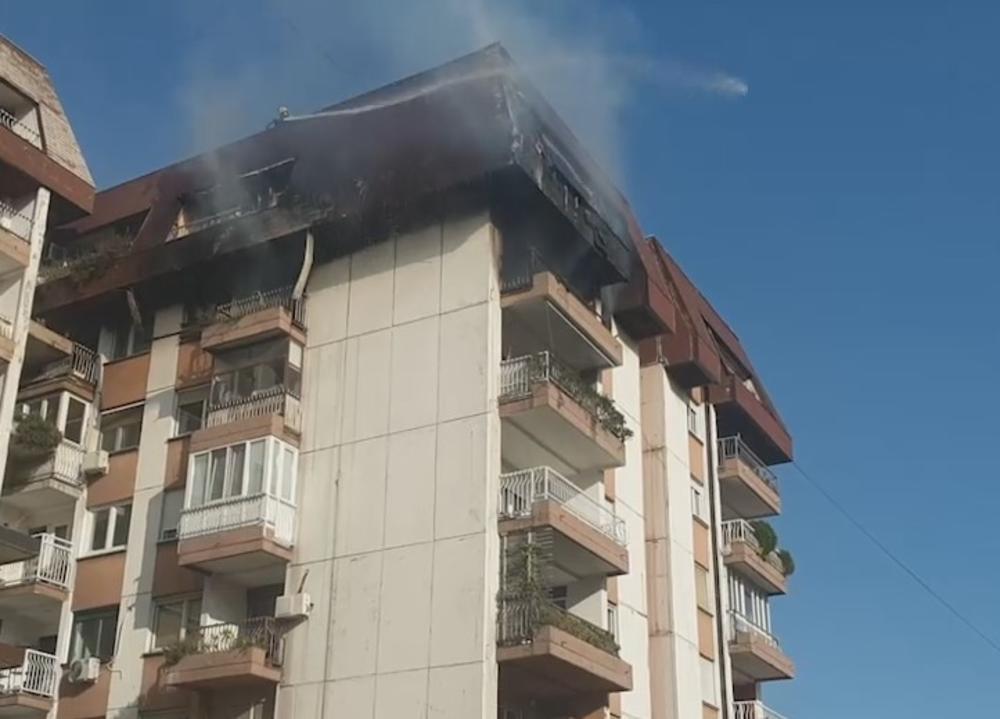 dim kuljao iz zgrade