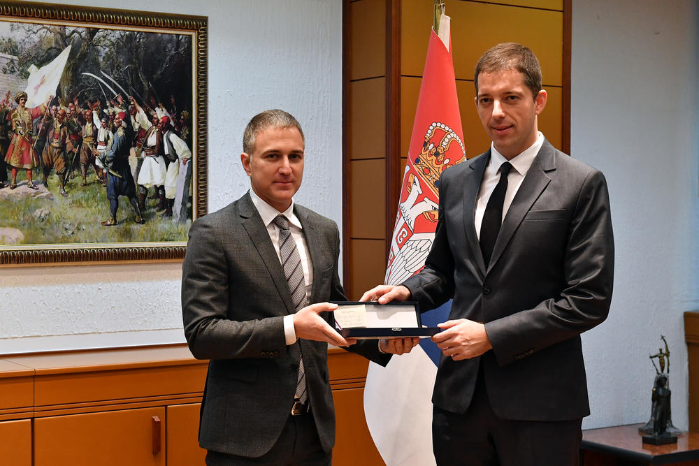 MINISTAR POŽELEO SREĆU: Đurić na sastanku sa Stefanovićem uoči preuzimanja funkcije ambasadora u Americi