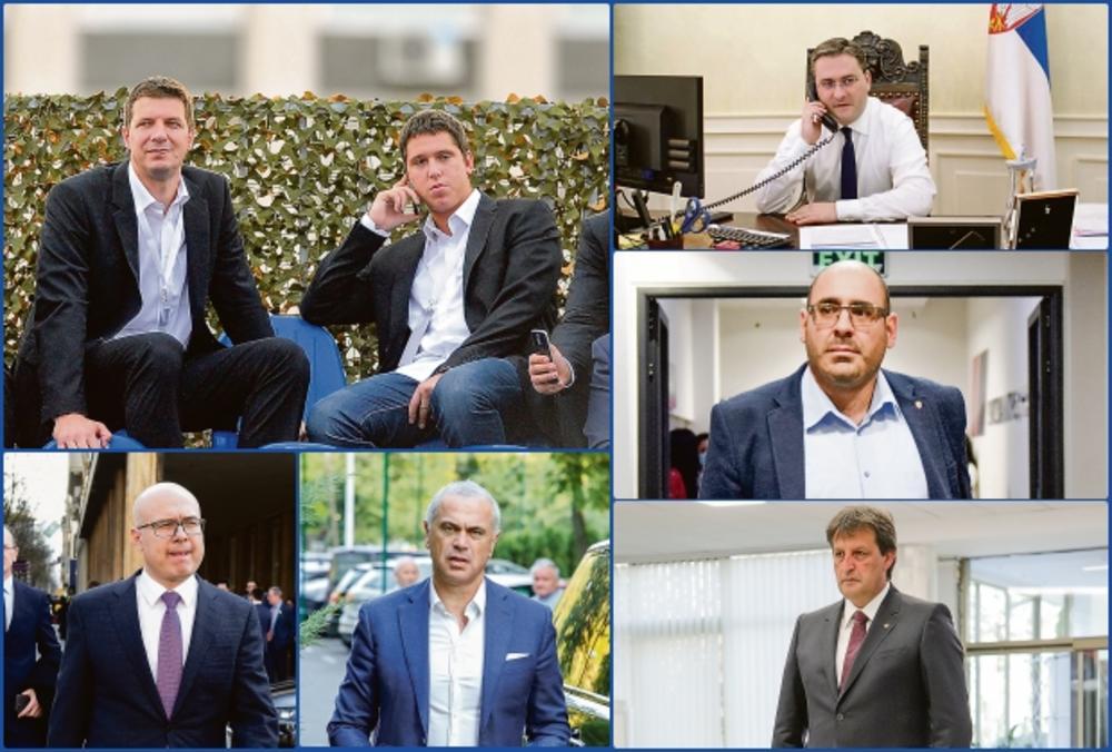Andrej Vuçiç, Danilo Vuçiç, Bratislav Gashiç, Milos Vuçeviç, Vladimir Gjukanoviç, Zvezdan Terziç, Nikola Selakoviç