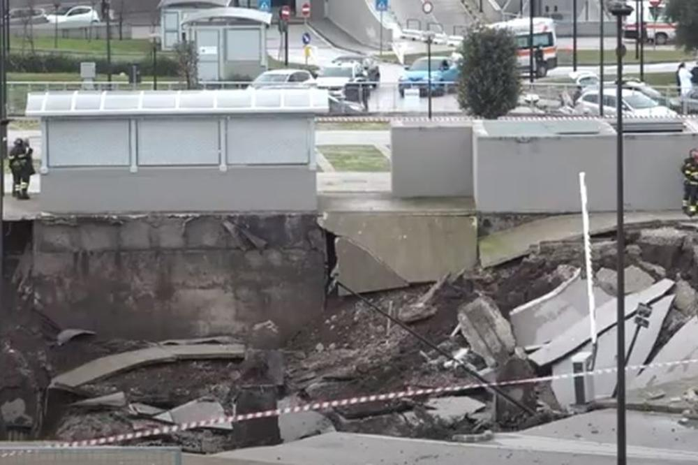 DRAMA U NAPULJU: Eksplozija u blizini kovid centra, otvorio se krater dubok  20 metara! Rupa progutala