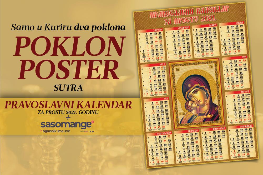 Kalendar 2021 crkveni Srpski Crkveni