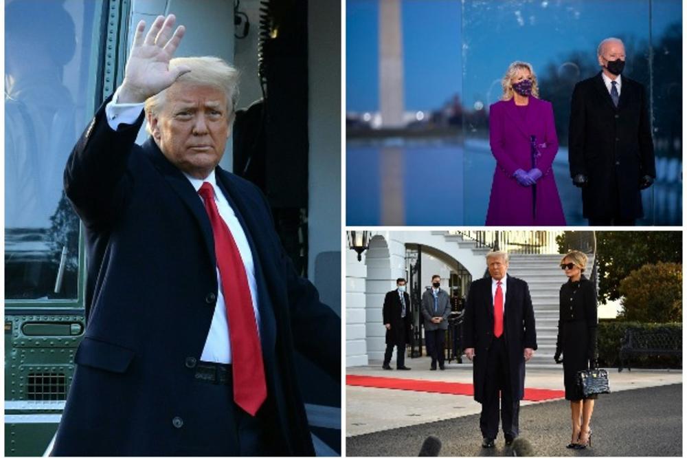 (UŽIVO) ISTORIJSKI DAN U SAD! Tramp i Melanija napustili Belu kuću: Nadam se da ovo nije zbogom na duže vreme (VIDEO)
