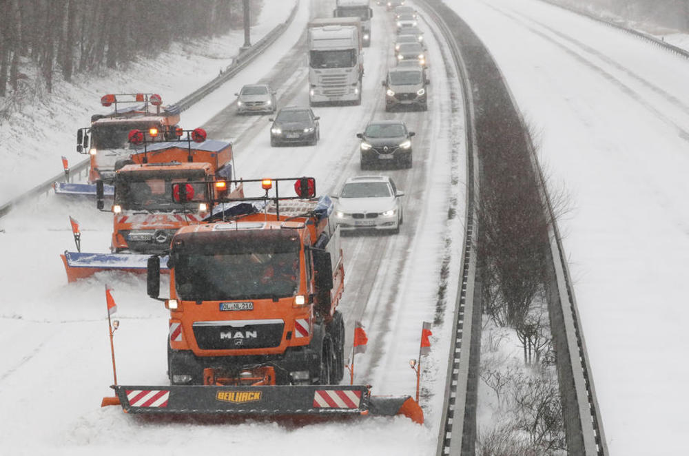 Nemačka, snežna oluja