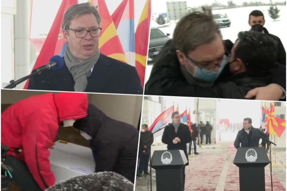 """Image result for Vučić uručio Zaevu prvi kontigent """"Fajzerovih"""" vakcina"""