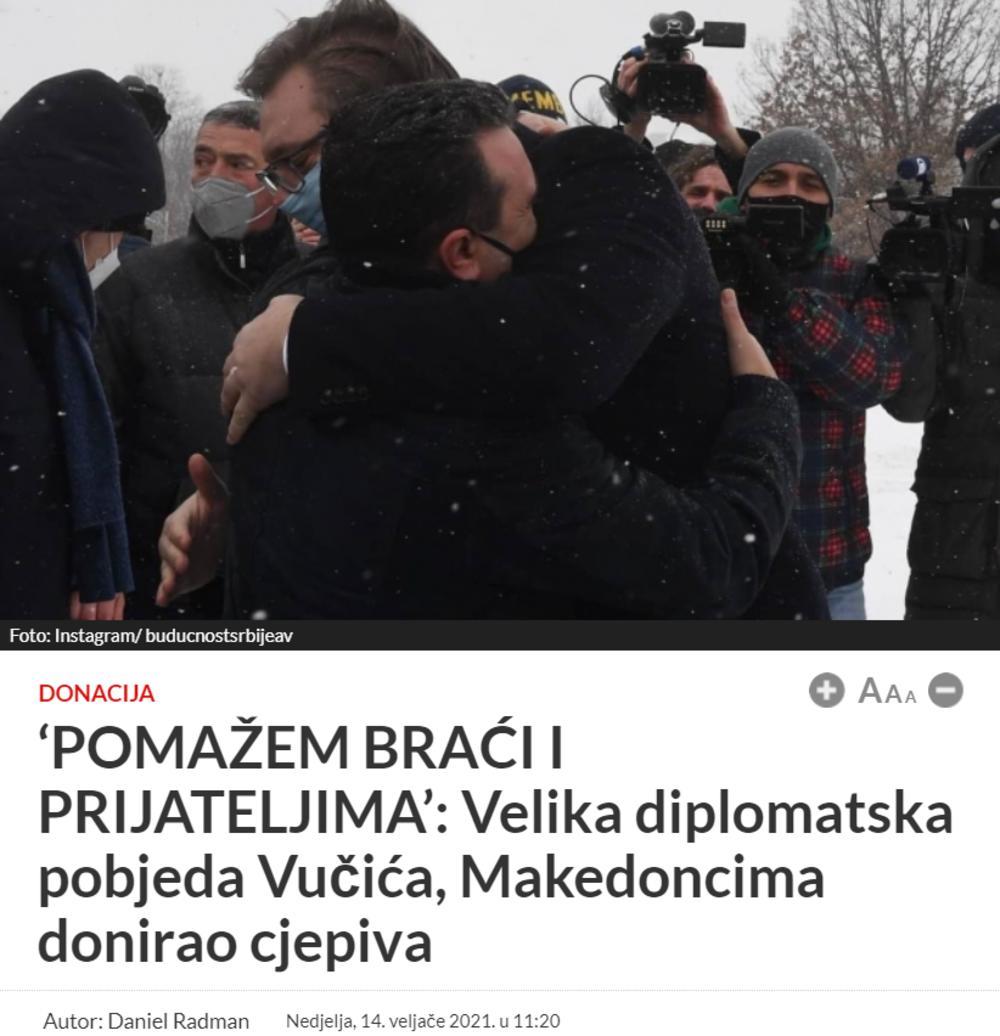 Aleksandar Vučić, Zoran Zaev