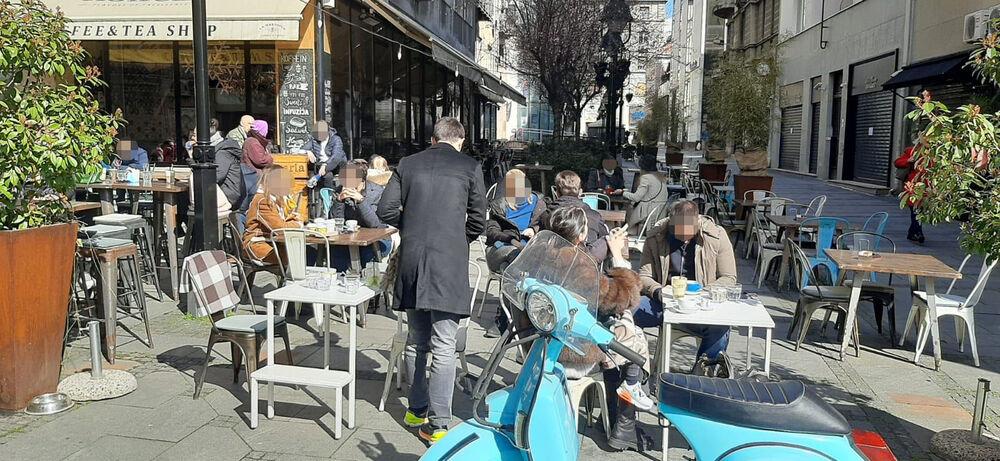 kafici, baste, Beograd, toplo vreme