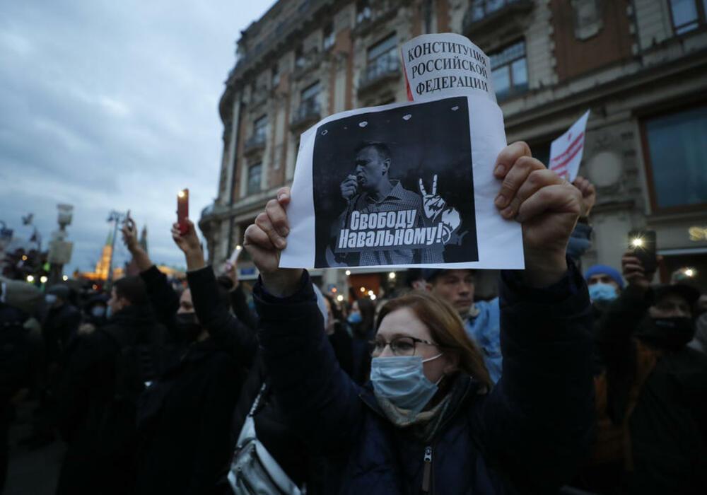 Rusija, Aleksej Navaljni, protest
