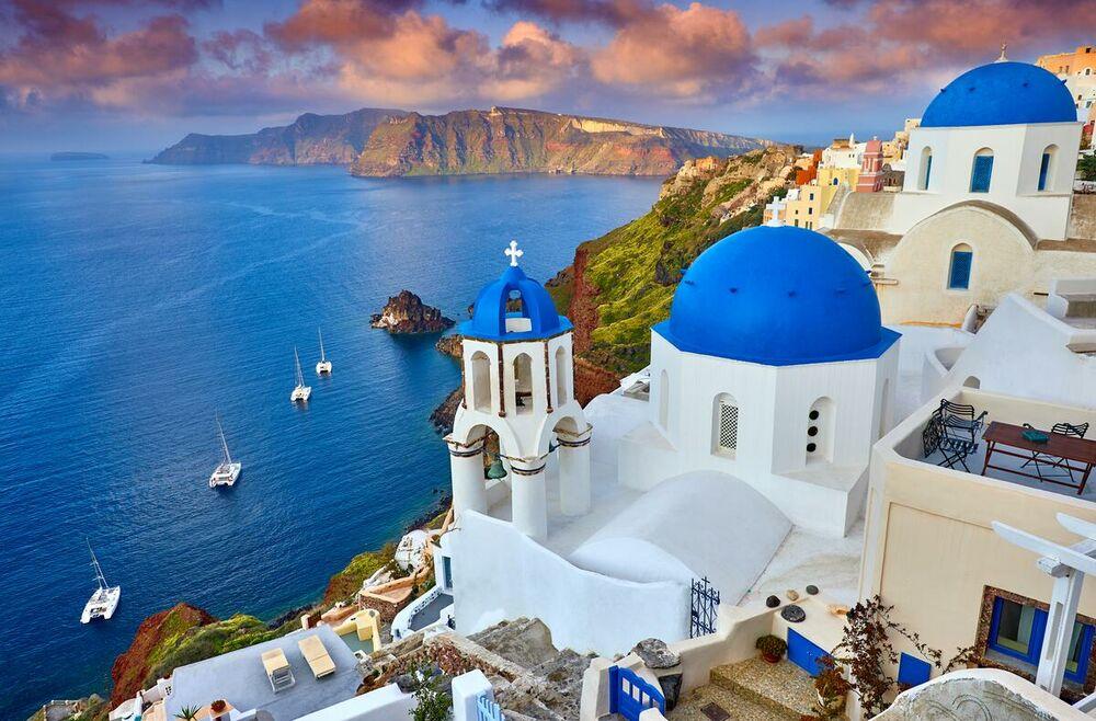 Santorini, Grčka, letovalište