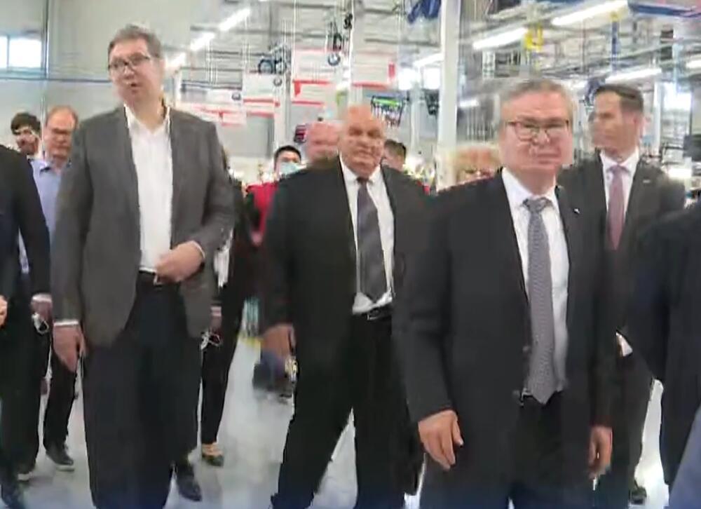 Aleksandar Vučić, fabrika, otvaranje, Jagodina, Fischer automotive systems