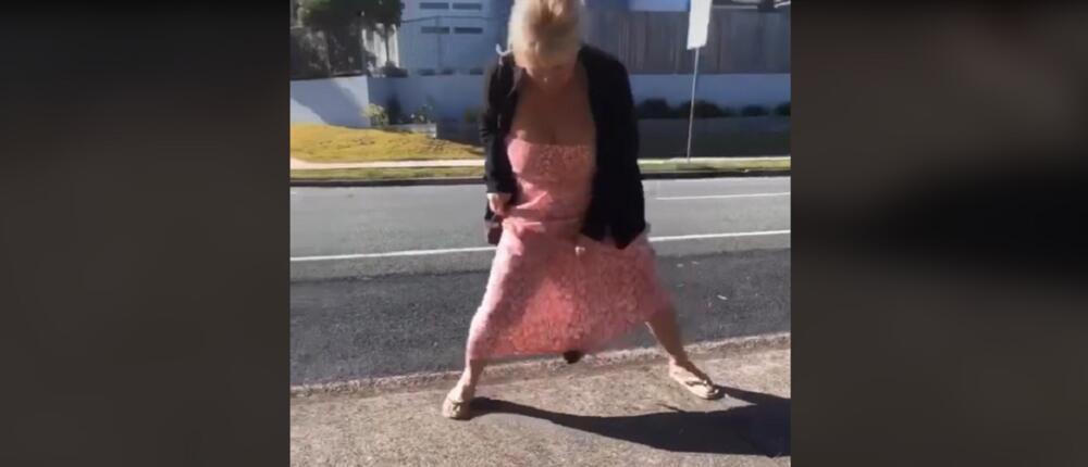 žena, oposum, tiktok, video, napad