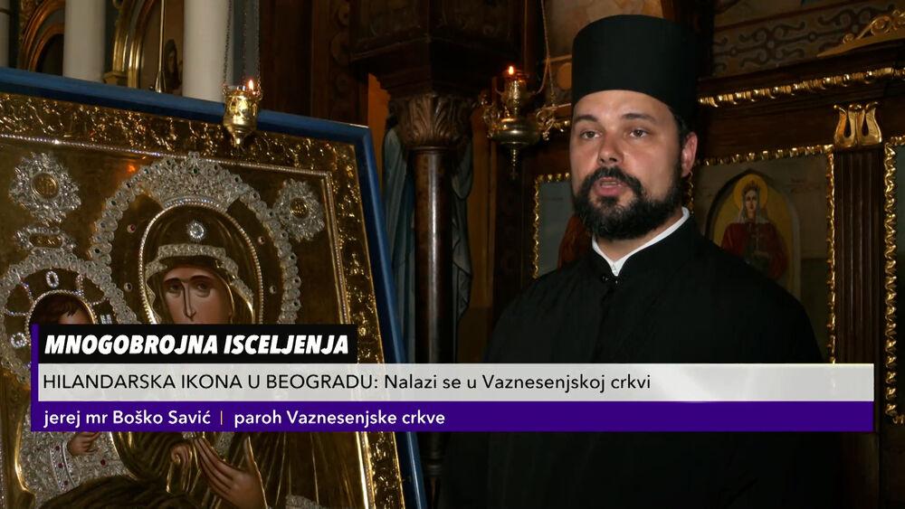 ČUDOTVORNA IKONA BOGORODICE TROJERUČICE U VAZNESENJSKOJ CRKVI: Vernici širom Srbije dolaze da se poklone ikoni sa Hilandara