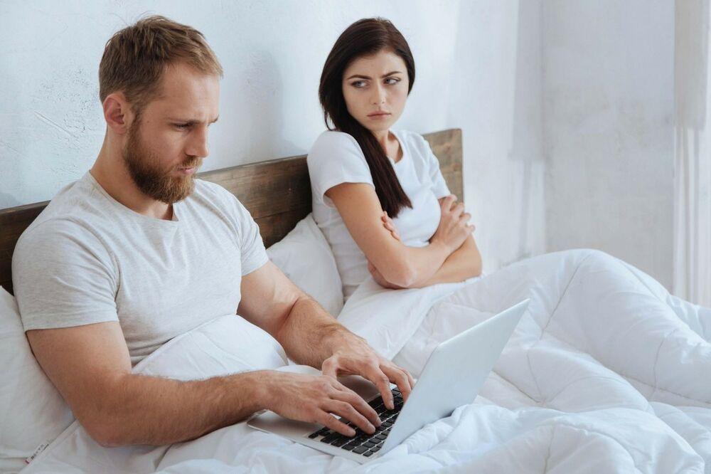 par, veza, brak, krevet, svađa