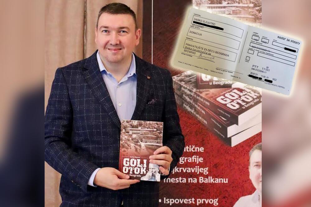 DECA U PRIHVATILIŠTU BEOGRADA DOBILA SU POMOĆ: Zlojutro se odrekao kompletne zarade od prodaje knjige i novac uplatio mališanima