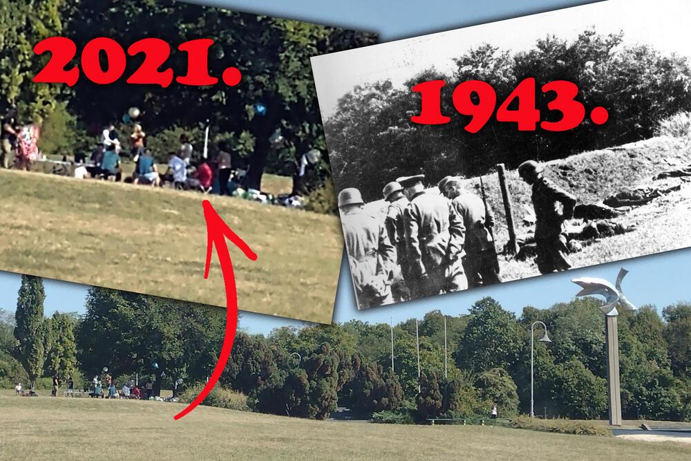 Spomen park Jajinci, skrnavljenje spomenika