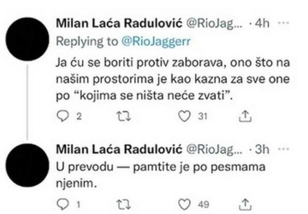 Milan Radulović, Laća